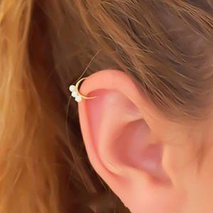 Fire Opal Tragus/Hex/Rook/Daith Cartilage Hoop